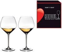 "Набор бокалов 2 шт. Riedel ""Heart to Heart"" Chardonnay 670 ml ""Харт ту Харт"" Шардонне набор из 2-х бокалов 670 мл"